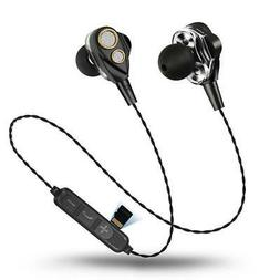 Four Speakers 6D Surround Sound  Bluetooth Earphones With TF