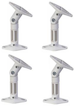 Four White Wall/Ceiling Speaker Brackets Mount for Home Thea