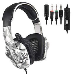 Gaming Haeadset,Surround Stereo Sound USB Gaming Headset wit