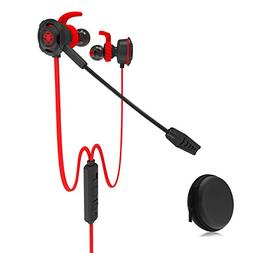 HD Gaming Headset with Mic 3.5mm in-ear Noise Cancelling Por