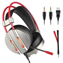 Gaming Headset, TecTri Stereo Gaming Headphones for PS4 Xbox