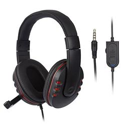 Denpetec PC Headset, 3.5mm Wired Gaming Headset with Microph