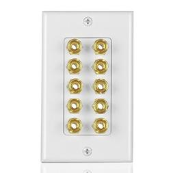 Tnp Home Theater Speaker Wall Plate Outlet Sound Audio Distr