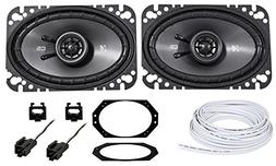 "Kicker CSC 4X6"" Front Factory Speaker + Wire For 1997-2002 J"