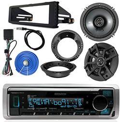 Kenwood Marine Digital Media Bluetooth Receiver, 2x Kicker 6