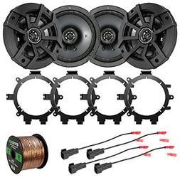 """4X Kicker CSC654 600-Watt 6.5"""" 2-Way Black Car Speakers with"""
