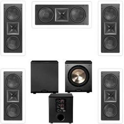 Klipsch KL-6502-THX 5.1 In-wall LCR Speaker System-Free PL-2