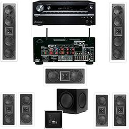 Klipsch KL-6504-THX In-Wall 7.1-SW-310 Onkyo TX-NR838 7.2 Ch