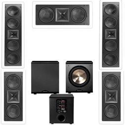 Klipsch KL-6504-THX 5.1 In-wall LCR Speaker System-Free PL-2