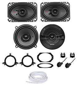 Kicker KS Replacement Of Factory Speakers+Wire For Jeep Wran