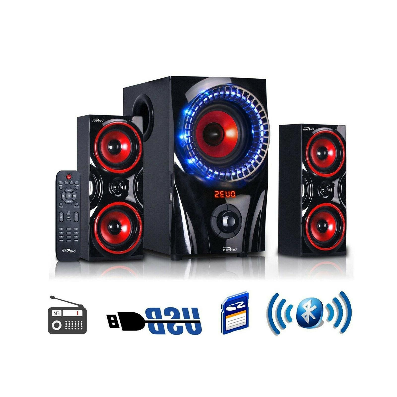 BEFREE SOUND 2.1 CHANNEL SURROUND SOUND BLUETOOTH USB/SD/SPE