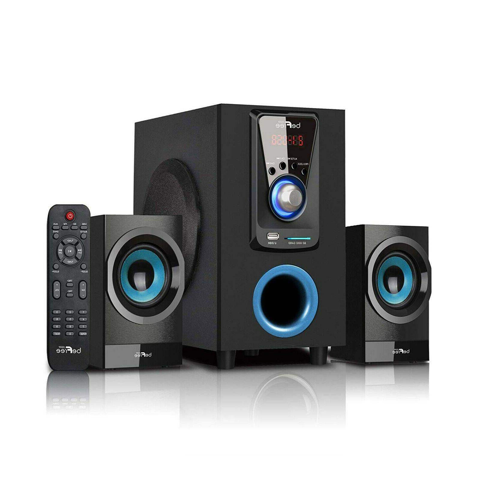 2 1 channel surround sound speaker system