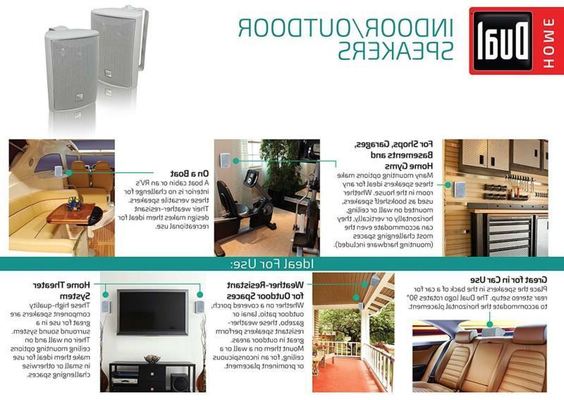 2x Waterproof Sound Home