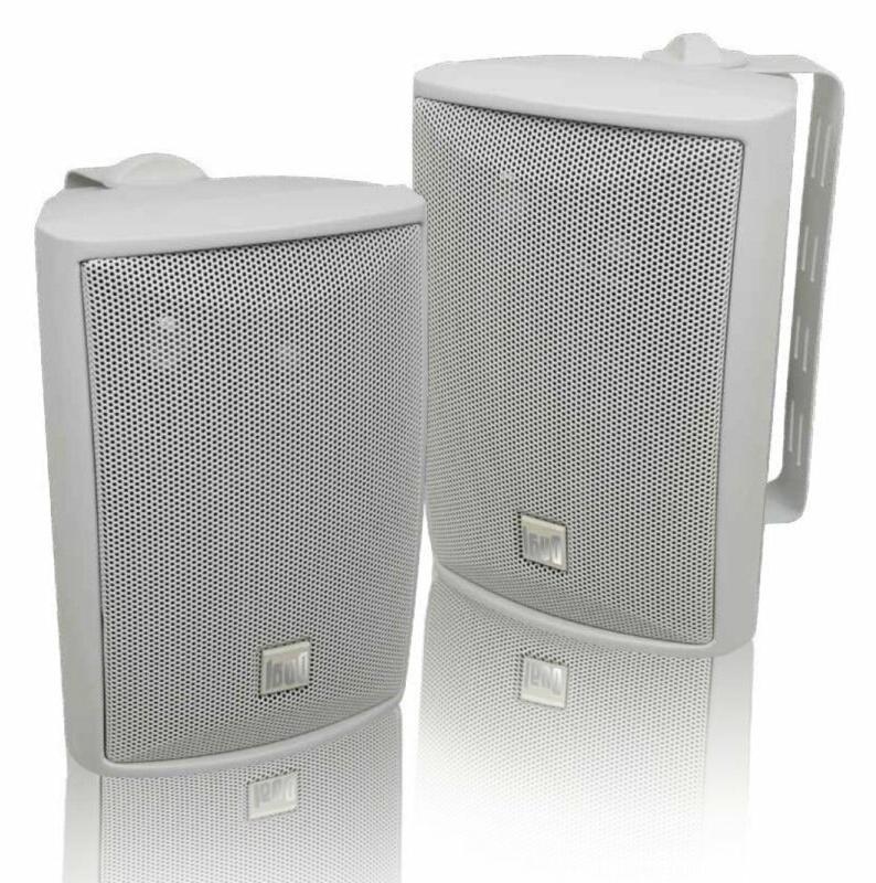 2x wall mount speaker waterproof patio poolside