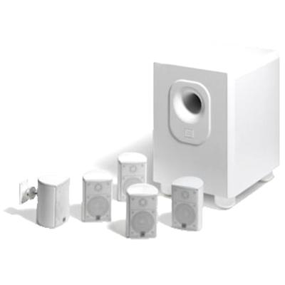 5-Channel Surround Sound TRUE HOME THEATER SYSTEM White Cine