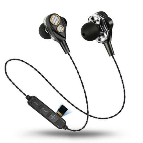 6D Bluetooth Earphones Four Speakers Headset Bass