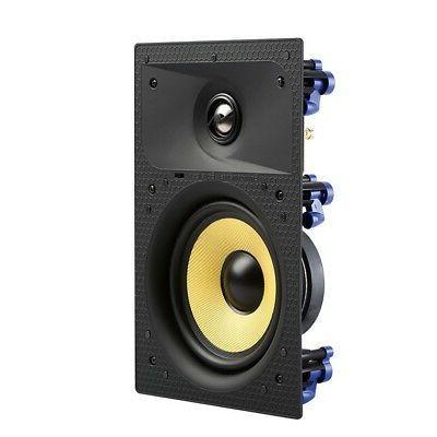 "7 6.5"" Home Theater Surround Speaker Flush White"