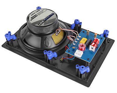 "6 Pack - 8"" 2-Way Home Surround Speaker Flush"
