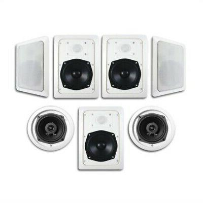 Acoustic Audio HT-57 In Wall In Ceiling 1400 Watt Home Theat
