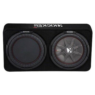 "Kicker - Comprt 12"" Dual-voice-coil 2-ohm Loaded Subwoofer E"