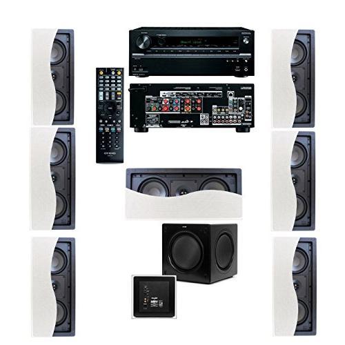 Klipsch R-2502-W II In-Wall Speaker  7.1 Onkyo TX-NR636 7.2