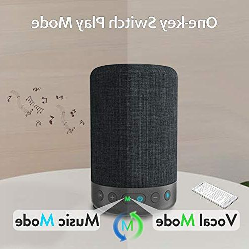 1Mii A03 Bluetooth Speaker Portable Speaker Music Mode&Vocal Mode, 10W 360⁰ Surround Speakers, Playtime, AUX-in