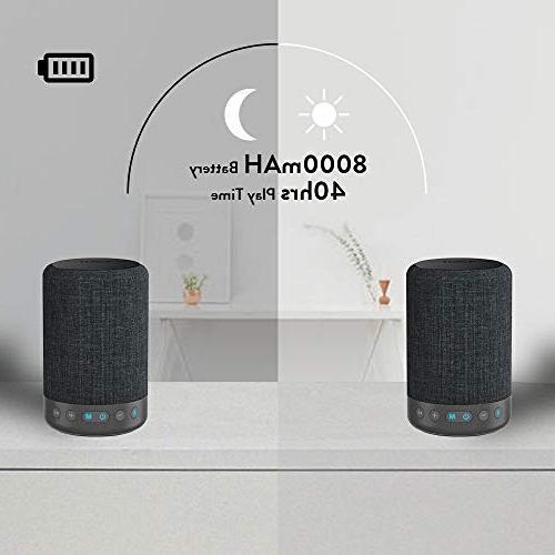 1Mii Bluetooth Speaker Wireless Portable Music Mode&Vocal Mode, 10W Surround Speakers, Playtime,