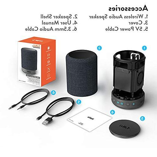1Mii Long Bluetooth Speaker Wireless Portable Speaker Mode&Vocal Mode, 10W 360⁰ Surround Sound 40H Playtime,