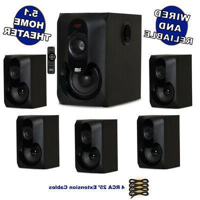 acoustic audio 5 1 bluetooth speaker surround
