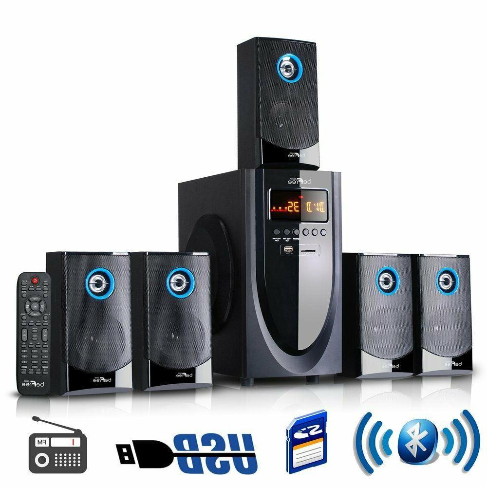 BEFREE SOUND BFS-520-BL 5.1 CHANNEL SURROUND SOUND SPEAKER S