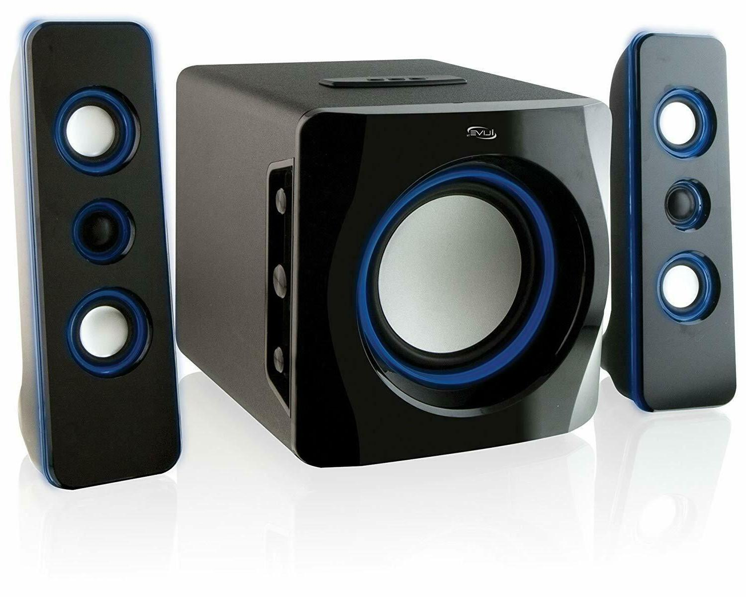 Bluetooth LED Compact Home Theater TV Speakers Subwoofer Dyn