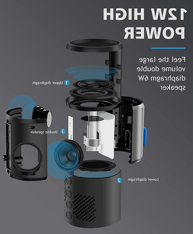 Bluetooth Speaker Portable 12W IPX6 Waterproof 360° Surround Sound