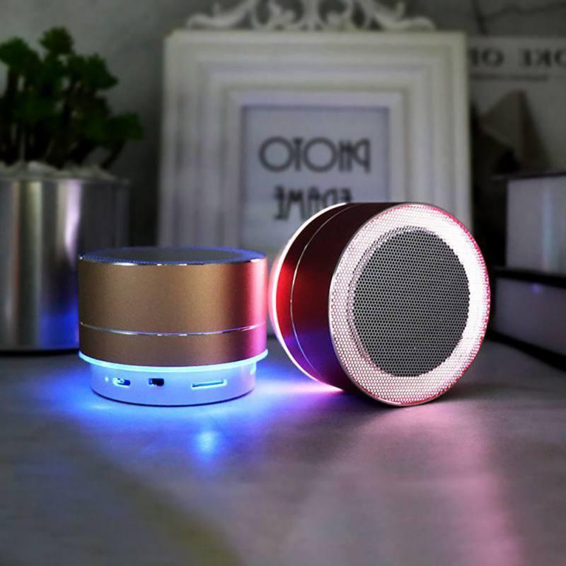 mini Metal <font><b>Speaker</b></font> Colorful Lighting 360