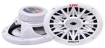 2 Way Waterproof and Weather Resistant Outdoor A 6x9 Inch Dual Marine Speakers