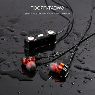 Dual Speaker Necklace Wireless 4.0 Stereo Sport Headset With