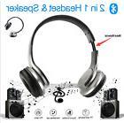 2in1 Flip Speaker Wireless Bluetooth Headset Headphones For