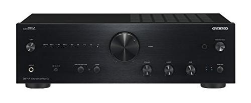 integrated audio component amplifier black
