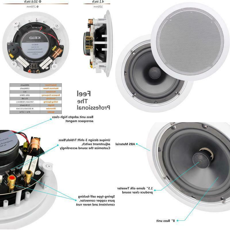 keiid in ceiling speaker 8 inch hi