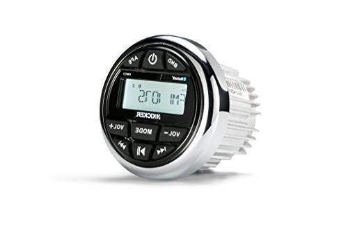 Kicker Marine Style AM/FM Stereo Bundle Kenwood 6.5-Inch Speaker Amplifier + Enrock Radio Antenna Wire