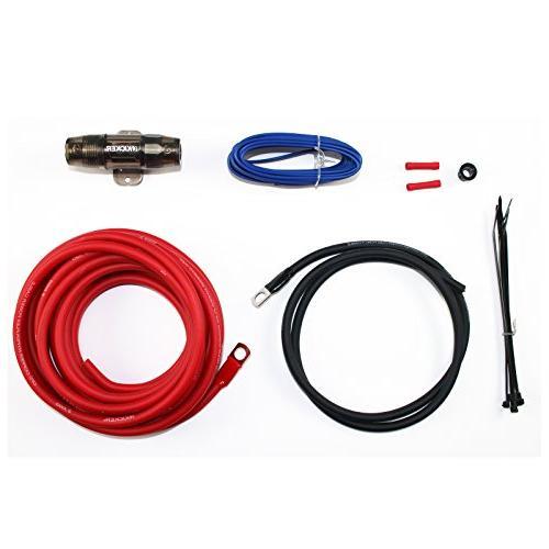 Kicker Style AM/FM Bundle Combo Kenwood 6.5-Inch 100 Speaker + Amplifier W/ Wiring Kit + Radio + 50 14g Wire