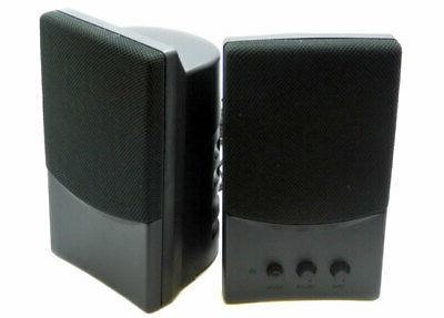 new usb black multimedia computer speakers 431779