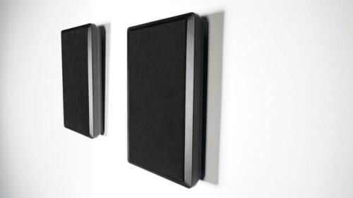 pair rockslim black front rear surround sound