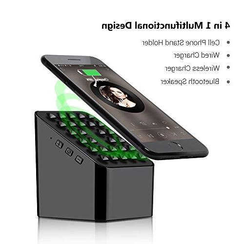 Portable Bluetooth Charger Power Bank Cell Phone in HD Enhanced Wireless Speaker for Black Yszbiay