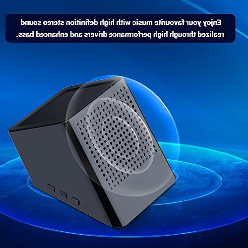 Portable Charger Phone Stand Holder in 1 Sound Enhanced Speaker Black Bluetooth Speaker Yszbiay