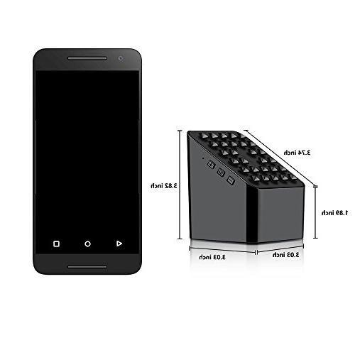 Portable Bluetooth Speaker Wireless Charger Phone Stand Holder in HD Enhanced Speaker Black