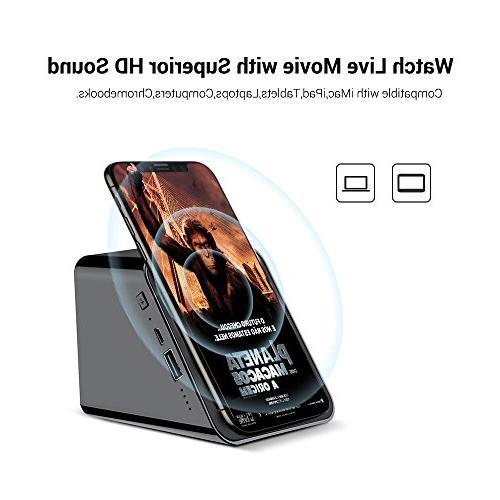 Charger Phone Stand Holder 4 in Enhanced Loud Speaker Black Yszbiay