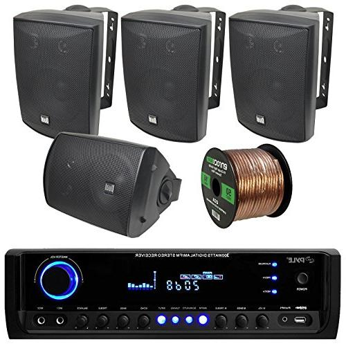 pyle pt390btu bluetooth digital home theater 300 watt stereo