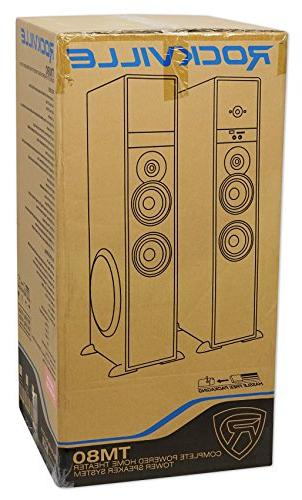"Rockville TM80B Theater Tower 8"" Sub/Bluetooth/USB"