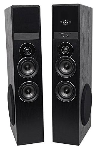 Rockville Black Theater Tower Speakers 8""