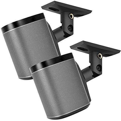 PERLESMITH Universal Speaker Wall Brackets, 5 Adjustable Tilt and Speakers - and Ceilings - up